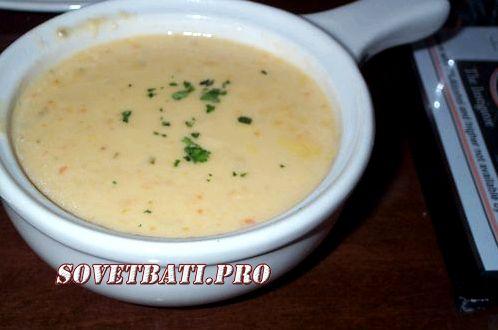 Сырный суп как в Шашлыкофф