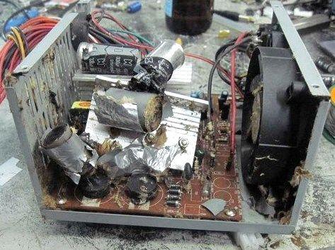 Как взорвать блок питания компьютера