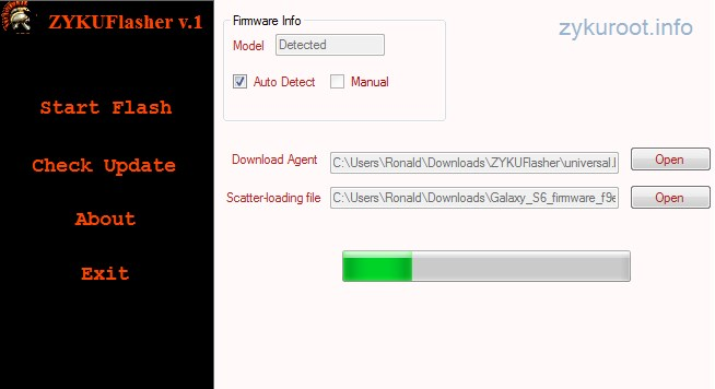 прошивка, Android, ZYKUFlasher v.1