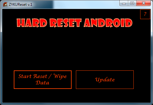 ZYKUReset - программа для hard reset android без пароля